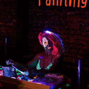 Face painters, black light painters and more.